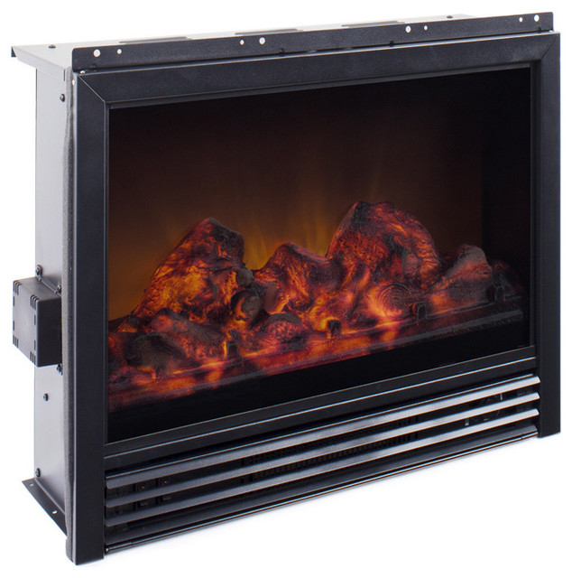 Corliving Fpe 503 F Electric Fireplace Insert Contemporary Indoor Fireplaces By