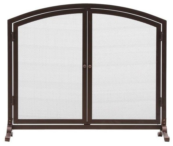 Home decorators collection fireplace screen emberly brown 1 panel fireplace contemporary - Houzz fireplace screens ...
