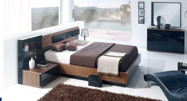 Wood Modern Furniture Design Set With Extra Storage Modern Bedroom