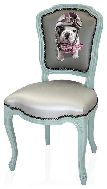 chaise t o racing gris et vert d 39 eau clectique chaise. Black Bedroom Furniture Sets. Home Design Ideas