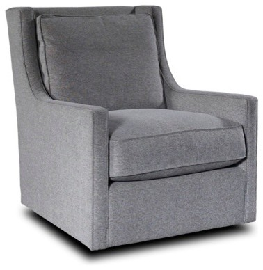 Hugo Swivel Chair Gray Transitional Armchairs And