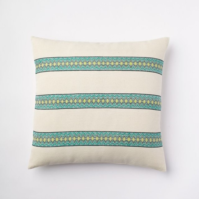 Lined Brocade Pillow Cover - Contemporary - Decorative Cushions - by West Elm