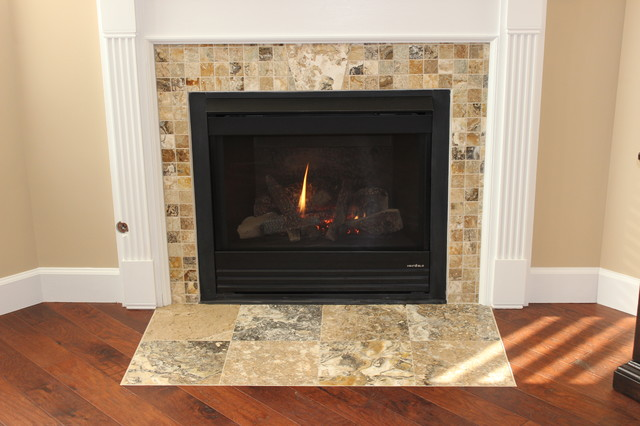 pam 39 s wood tile floors and fireplace traditional cincinnati b