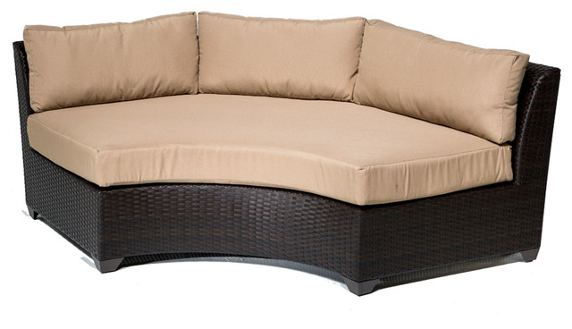 Barbados Curved Armless Sofa Asian Outdoor Sofas By