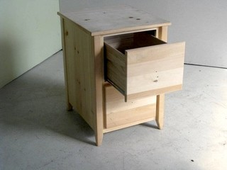 Unfinished 2 Drawer Wooden File Cabinet - Farmhouse ...