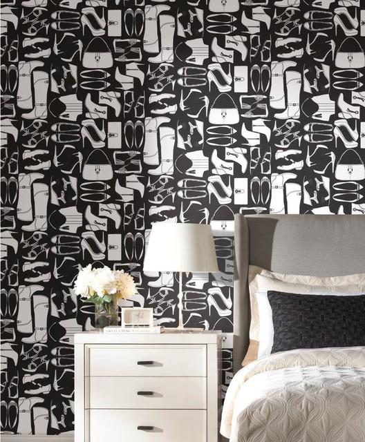 Obsession wallpaper wallpapher contemporain papier peint houston par american blinds - Papier peint ontwerp contemporain ...