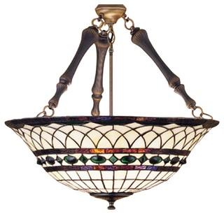 Meyda Tiffany Pendants Inverted Pendant Light In