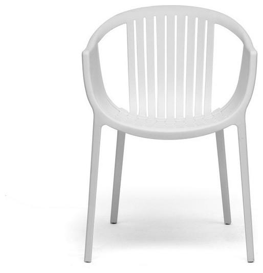 Baxton Studio Grafton White Plastic Stackable Modern