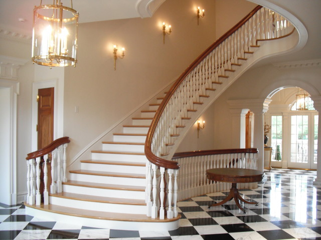 Georgian residence in dallas traditional staircase for Georgian staircase design