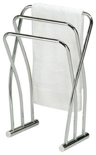 Chrome Finish Towel Bathroom Quilt Rack Stand