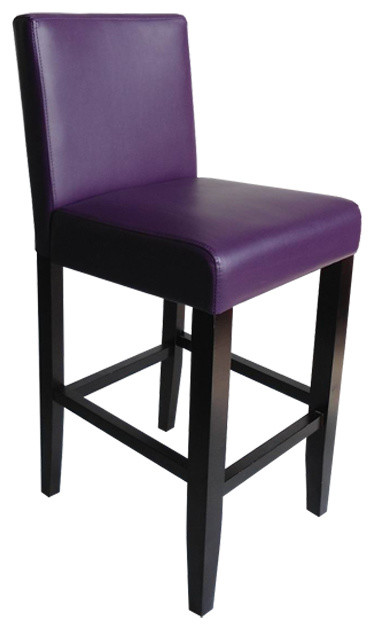 Villa Faux Leather Blue Counter Stool Set Of Two