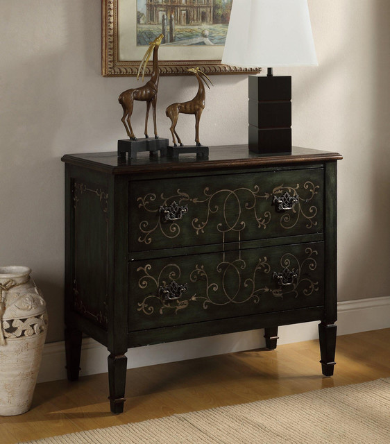Coaster Traditional Accent Cabinet in Antique Green - Traditional - Accent Chests And Cabinets ...