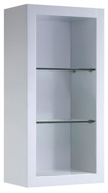 Fresca Cabinets Allier 16 in. W Bathroom Linen Cabinet with 2 Glass Shelves in contemporary ...