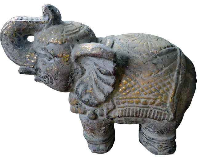 Stone carved elephant statue asian garden statues and