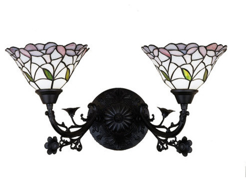 Meyda Tiffany 27391 Stained Glass Tiffany 2 Light 22