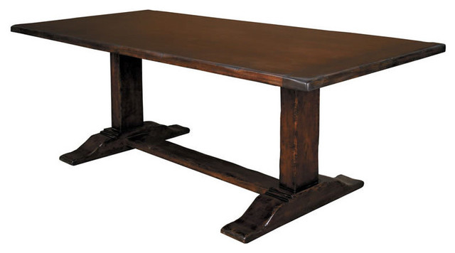 Trestle Counter Height Dining Table Contemporary Dining Tables By Overs