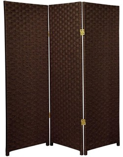 room divider dark mocha 3 panel traditional screens and room