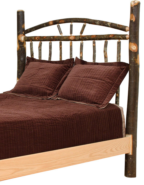 Rustic Hickory Wagon Wheel Bed, Full Size, Queen ...