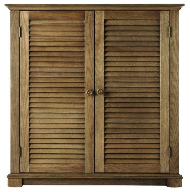 Home Decorators Collection Closet Organization Shutter 35 in. W Weathered Oak - Contemporary ...