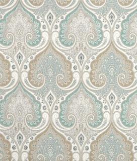 Latika Fabric Seafoam Traditional Upholstery Fabric