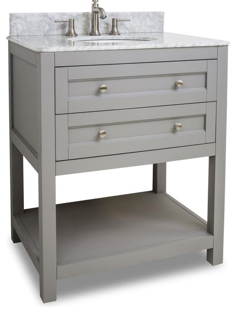 Jeffrey Alexander Vanity Gray  Transitional Bathroom Vanities And Sink Consoles By
