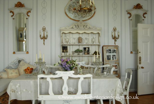 Swedish Antique Gustavian Dining Table And Antique Settles