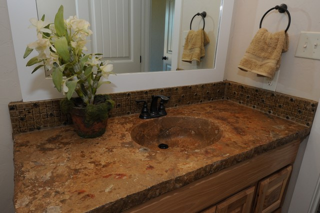 Countertop Lavatory Sink : ... Sink and Countertop by Red Baron Architectural traditional-bathroom