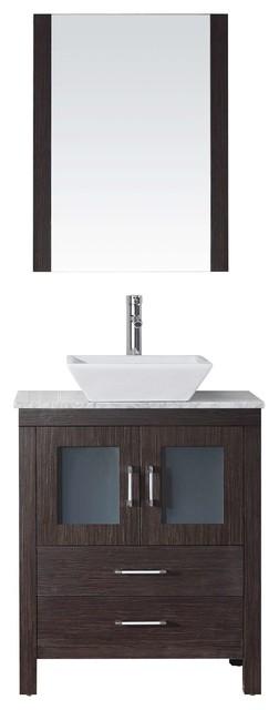 Dior 28 Single Bathroom Vanity Cabinet Set Espresso Modern Bathroom