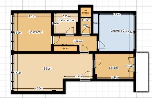 Besoin d 39 aide r novation compl te appart 64m2 boulogne billancourt - Plan salle de bain 7m2 ...