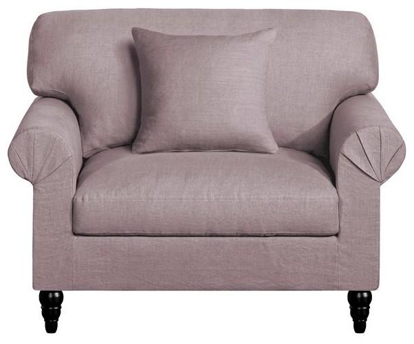 canap xl juliet toile lin froiss contemporain fauteuil. Black Bedroom Furniture Sets. Home Design Ideas
