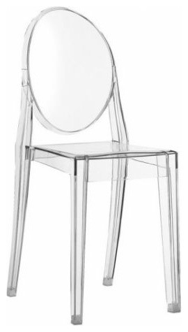 Philippe starck style ghost chair victoria in for Modern dining chairs vancouver