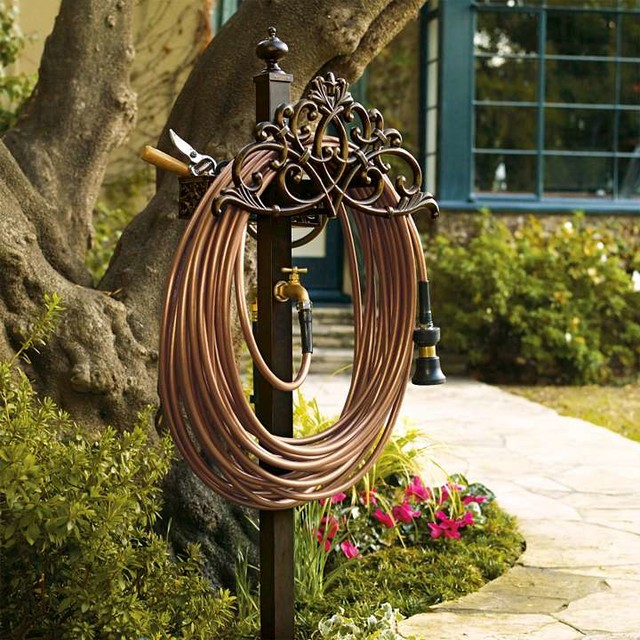 Wrought Iron Garden Hose Holder Designs