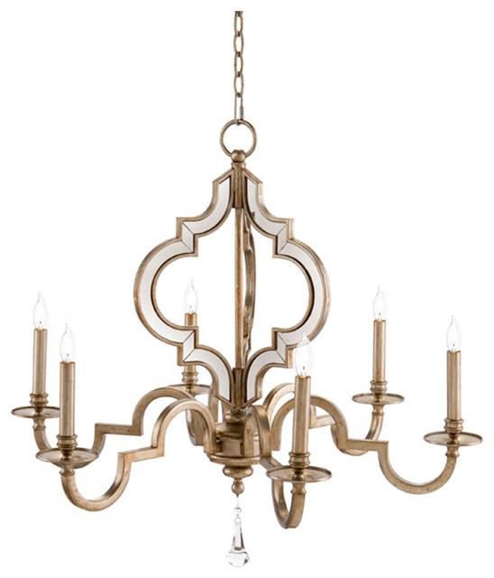 john richard 6 light reflections chandelier ajc 8787. Black Bedroom Furniture Sets. Home Design Ideas