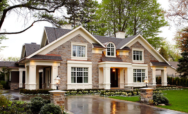 house plans with rock exterior - Exterior House Plans