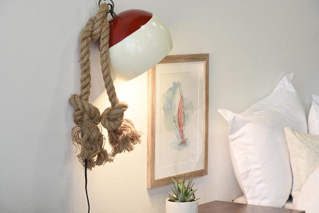 Nautical Style Wall Sconces : Nautical Bobber Hanging Plug In Sconce - Beach Style - Wall Sconces - by Woodwaves Inc.