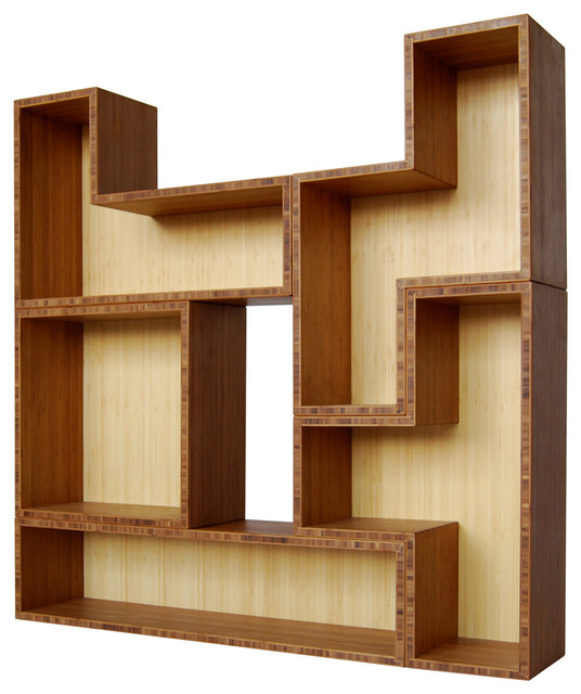 Tetrad Bamboo 5 Modern Bookcases By Brave Space Design