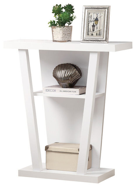white 32 l hall console accent table contemporary