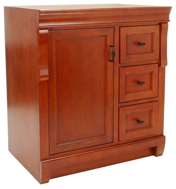 Naples 30 vanity cabinet only in warm cinnamon for Bathroom cabinets naples fl