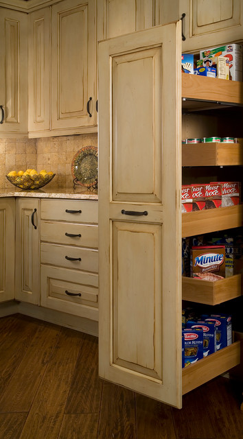 Tall Pull-Out Storage - Traditional - Kitchen - seattle - by Bellmont Cabinet Co.