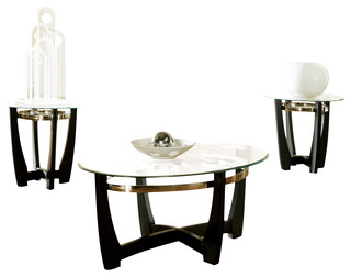 Steve Silver Matinee 3 Piece Occasional Table Set Traditional Coffee Table Sets By Beyond