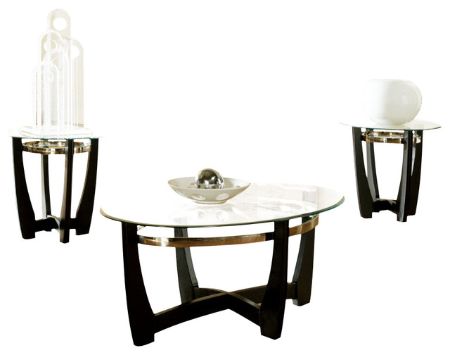 steve silver matinee 3 piece occasional table set traditional coffee table sets by beyond. Black Bedroom Furniture Sets. Home Design Ideas
