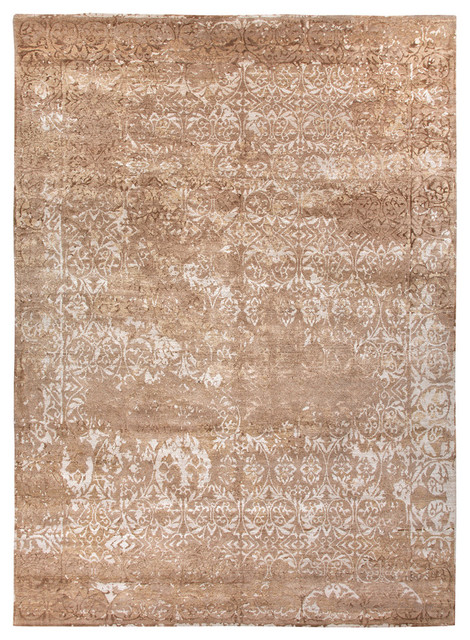 Jenny Jones Global Beige Hand Knotted Rug Farmhouse Rugs by Bliss Home