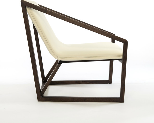 Modern Wood And Leather Lounge Chair Modern Chaise Longue Other Metro