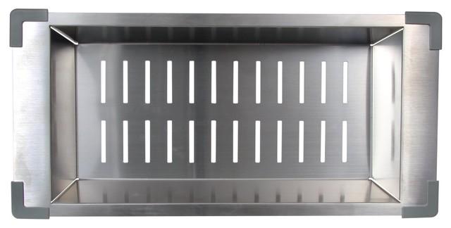 BOANN Stainless Steel Sink Colander Small Modern