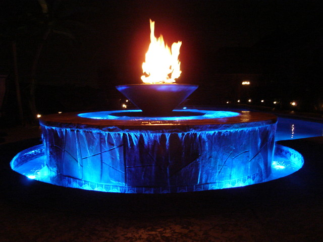 Fire Fountain Modern Oklahoma City By J Allen Designs