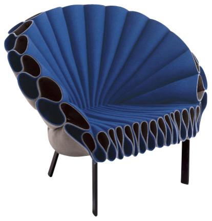 Peacock Chair Blue and Gray Contemporary Armchairs