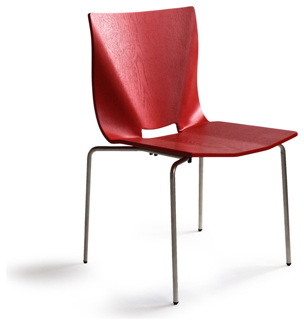 osidea v stacking chair contemporary dining chairs