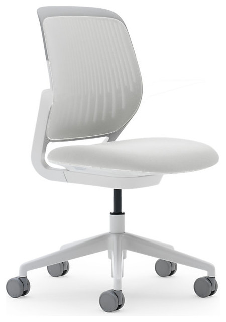 cobi chair white frame soft casters coconut modern office chairs