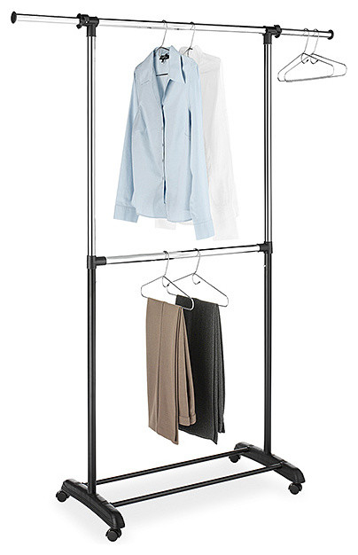 Two Rod Adjustable Garment Rack Contemporary Clothes Racks By Zulily
