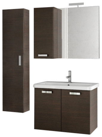 5 Light Vanity Refresh Kit : 30 Inch Wenge Bathroom Vanity Set modern-bathroom-vanities-and-sink-consoles